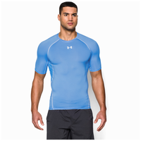 Under Armour HeatGear Armour Compression S/S Shirt - Men's - Light Blue / White