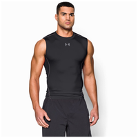 Under Armour HeatGear Armour Compression S/L Shirt - Men's - Black / Grey