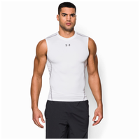Under Armour Heatgear Armour Comp S/L T-Shirt - Men's - White / Grey