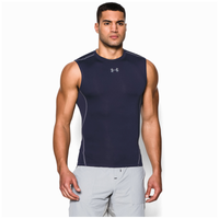 Under Armour HeatGear Armour Compression S/L Shirt - Men's - Navy / Grey