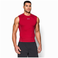 Under Armour HeatGear Armour Compression S/L Shirt - Men's - Red / Grey