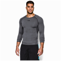 Under Armour HeatGear Armour Comp L/S T-Shirt - Men's - Grey / Black