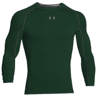 Under Armour HeatGear Armour Comp L/S T-Shirt - Men's - Dark Green / Grey