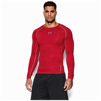 Under Armour Heatgear Armour Comp L/S T-Shirt - Men's - Red / Grey