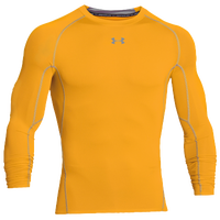 Under Armour HeatGear Armour Comp L/S T-Shirt - Men's - Gold / Grey