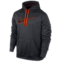 Nike KO Swoosh Camo Hoodie - Men's - Grey / Orange