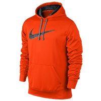 Nike KO Swoosh Camo Hoodie - Men's - Orange / Grey