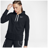 Nike Lightweight Full Zip Sporty Hoodie - Women's - All Black / Black