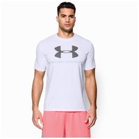 Under Armour Charged Cotton Sportstyle Logo T-Shirt - Men's - White / Grey