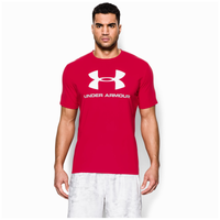 Under Armour Charged Cotton Sportstyle Logo T-Shirt - Men's - Red / White