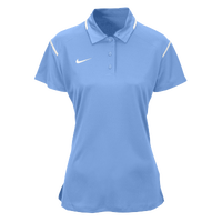 Nike Team Gameday Polo - Women's - Light Blue / White