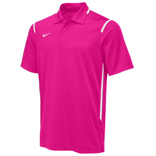 bc00e2c2b5c2 Nike Team Gameday Polo Mens For All Sports Clothing Vivid Pink White White  80%OFF