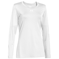 Under Armour Team Block Party L/S Jersey - Women's - All White / White