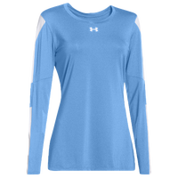 Under Armour Team Block Party L/S Jersey - Women's - Light Blue / White