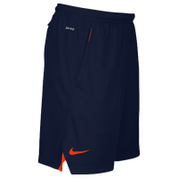 Nike Team Sideline 3 Pocket Knit Shorts - Men's - Navy / Orange