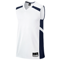 Jordan Team Prime.Fly Flight Game Jersey - Boys' Grade School - White / Navy