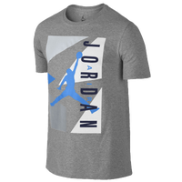 Jordan Retro 7 Blocked T-Shirt - Men's - Grey / Light Blue