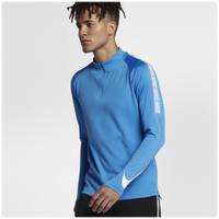 Nike Breathe Squad 1/2 Zip Top - Men's - Blue / White