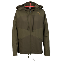 PUMA Transition Full Zip Jacket - Women's - Olive Green / Olive Green
