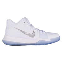 Nike Kyrie 3 - Boys' Grade School -  Kyrie Irving - White / Grey