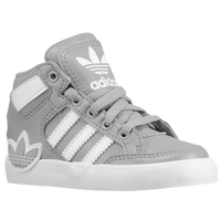 adidas Originals Hard Court Hi - Boys' Toddler - Grey / White