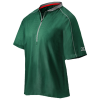 Mizuno Compression 1/4 Zip S/S Batting Jacket - Men's - Dark Green / Grey