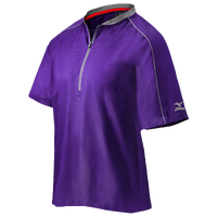 Mizuno Compression 1/4 Zip S/S Batting Jacket - Men's - Purple / Grey