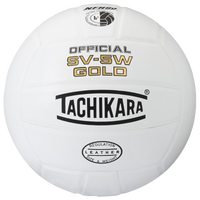 Tachikara SV-5W Gold Volleyball - White / White
