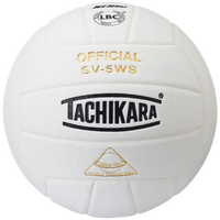 Tachikara SV-5WS Volleyball - White / White