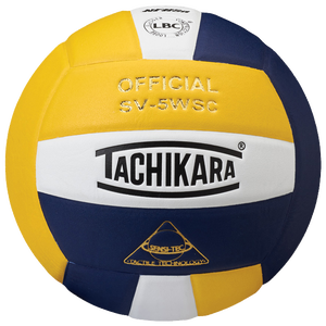 Tachikara SV-5WSC Volleyball - Gold/White/Navy