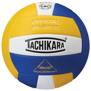 Tachikara SV-5WSC Volleyball - Gold/White/Royal