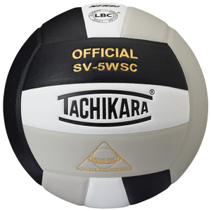Tachikara SV-5WSC Volleyball - Black/White/Silver