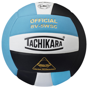 Tachikara SV-5WSC Volleyball - Powder Blue/Black/White