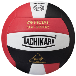 Tachikara SV-5WSC Volleyball - Scarlet/White/Black