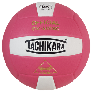 Tachikara SV-5WSC Volleyball - Pink/White