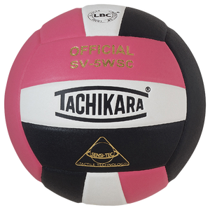 Tachikara SV-5WSC Volleyball - Pink/White/Black