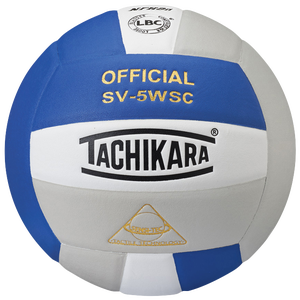 Tachikara SV-5WSC Volleyball - Royal/White/Silver
