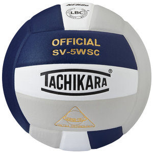 Tachikara SV-5WSC Volleyball - Navy/White/Silver