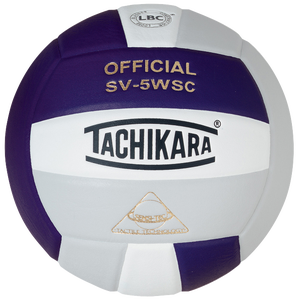 Tachikara SV-5WSC Volleyball - Purple/White/Silver Grey