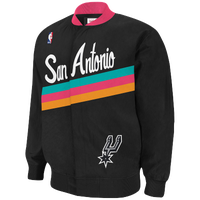 Mitchell & Ness NBA Authentic Warm-Up Jacket - Men's - San Antonio Spurs - Black / PInk