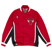 Mitchell & Ness NBA Authentic Warm-Up Jacket - Men's - Chicago Bulls - Red / Black