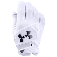 Under Armour Playoff Coldgear II Football Gloves - Men's - White / Black