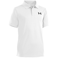 Under Armour Matchplay Polo - Boys' Grade School - White / Grey