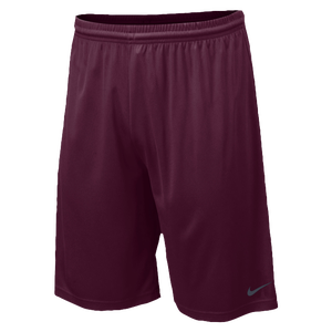 "Nike Team Fly 10"" Short - Men's - Dark Maroon/Matte Silver"