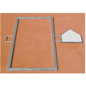 Diamond Team Foldable Batter's Box Template