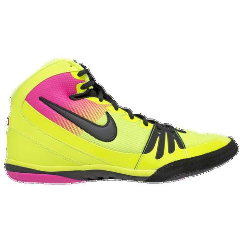 lovely Nike Freek - Men's - Wrestling - Shoes - Volt/Pink/Black