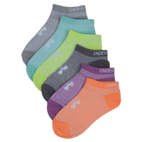Under Armour Liner 6 Pack No Show Socks - Girls' Grade School - Multicolor / Multicolor