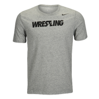 Nike Wrestling Tee - Men's - Grey / Black