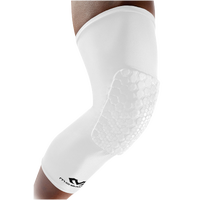 McDavid Teflx Leg Sleeve - Grade School - All White / White