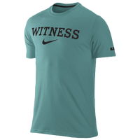 Nike LeBron Dri-Fit Cotton Witness T-Shirt - Men's - Lebron James - Light Green / Black